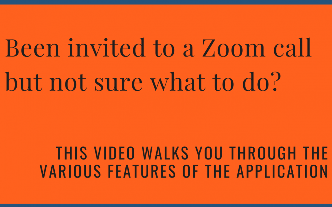 Been invited to a Zoom call but not sure what to do?