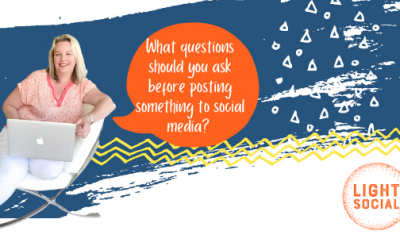 What questions should you ask yourself before posting something to social media?